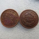 1 Pcs 1841 Braided Hair Large One Cent 100% Copper Manufacturing Old Copy Coins