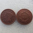 1 Pcs 1843 Braided Hair Large One Cent 100% Copper Manufacturing Old Copy Coins