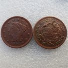 1 Pcs 1846 Braided Hair Large One Cent 100% Copper Manufacturing Old Copy Coins