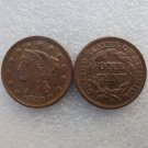 1 Pcs 1852 Braided Hair Large One Cent 100% Copper Manufacturing Old Copy Coins