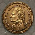1 Pcs 24-K Gola-Plated USA 1903 1 Dollars Francs coin copy