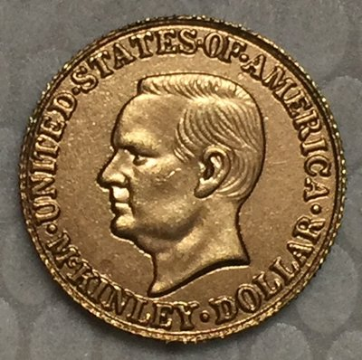 1 Pcs 24-K Gold-Plated USA 1916 1 Dollars Francs coin copy