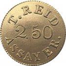 1 Pcs USA 1830 $2.50 Templeton Reid Coin Copy 18MM