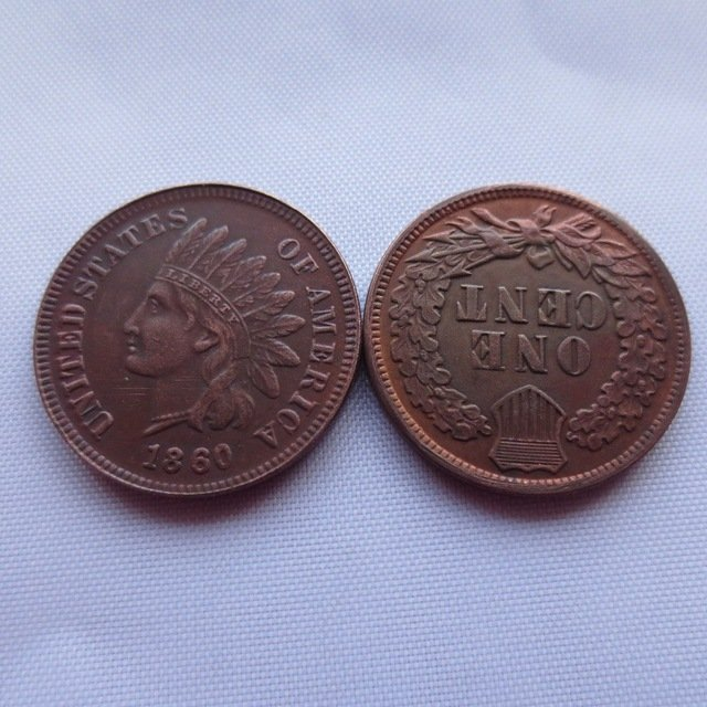 1 Pcs 1860 ONE CENT - INDIAN HEAD CENTS copy coin