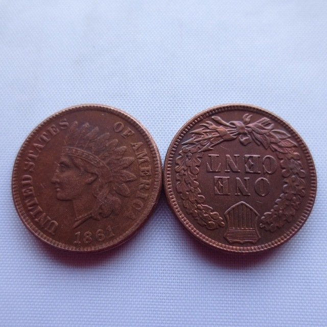 1 Pcs 1861 ONE CENT - INDIAN HEAD CENTS copy coin