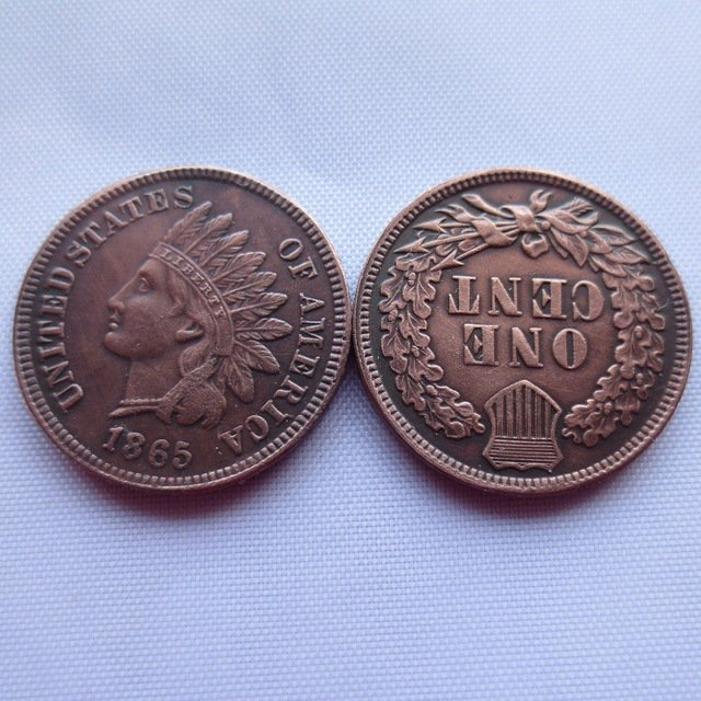 1 Pcs 1865 ONE CENT - INDIAN HEAD CENTS copy coin