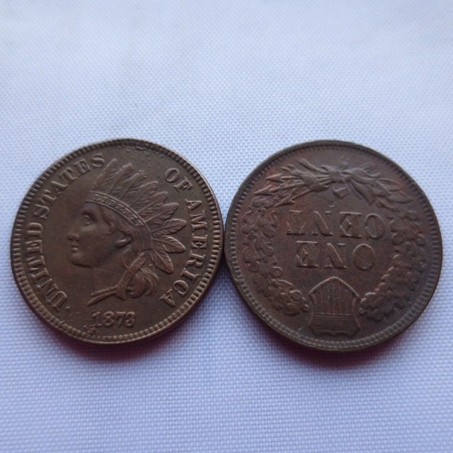 1 Pcs 1873 ONE CENT - INDIAN HEAD CENTS copy coin