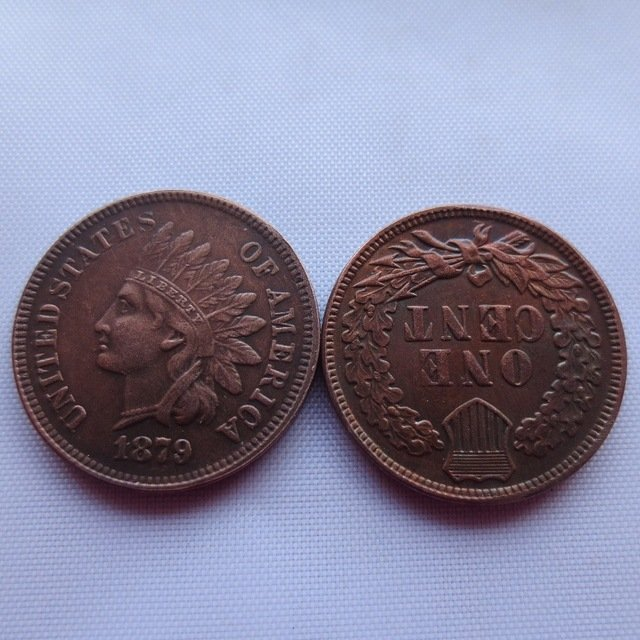 1 Pcs 1879 ONE CENT - INDIAN HEAD CENTS copy coin