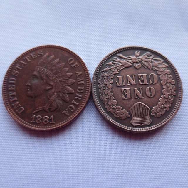 1 Pcs 1881 ONE CENT - INDIAN HEAD CENTS copy coin
