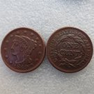 1 Pcs 1849 Braided Hair Large One Cent 100% Copper Manufacturing Old Copy Coins