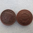 1 Pcs 1848 Braided Hair Large One Cent 100% Copper Manufacturing Old Copy Coins