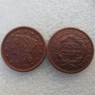 1 Pcs 1842 Braided Hair Large One Cent 100% Copper Manufacturing Old Copy Coins