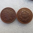 1 Pcs 1839 Braided Hair Large One Cent 100% Copper Manufacturing Old Copy Coins