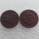 1 Pcs 1857 Flying Eagle Cents Patterns Copy Coins Copper