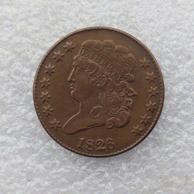 1 Pcs 1826 CLASSIC HEAD HALF CENTS Copper Manufacture copy coins
