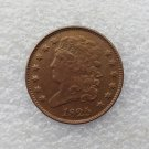 1 Pcs 1825 CLASSIC HEAD HALF CENTS Copper Manufacture copy coins