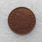 1 Pcs 1809 CLASSIC HEAD HALF CENTS Copper Manufacture copy coins
