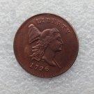 1 Pcs 1796 LIBERTY CAP HALF CENT - HEAD RIGHT coins copy Copper Manufacture