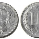 1 Pcs United States 1881 Three Cents Nickel Copy Coins