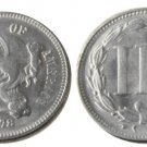 1 Pcs United States 1878 Three Cents Nickel Copy Coins