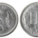 1 Pcs United States 1876 Three Cents Nickel Copy Coins