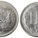 1 Pcs United States 1865 Three Cents Nickel Copy Coins