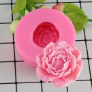 1 Pcs 3D Peony Shape Silicone Fondant Molds Flowers Handmade Soap Candle Clay Fimo Cake Mold