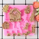 1 Pcs Christmas Series Silicone Mold Fimo Resin Clay Fondant Cake Decoration Mold