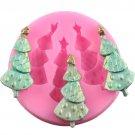 1 Pcs Christmas Tree Silicone Mold Fondant Molds Sugarcraft Candy Cake Decorating Tools Mould