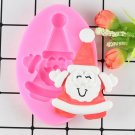 1 Pcs Christmas Santa Claus Fondant Cake Decorating Silicone Mold Polymer Clay Candy Mold