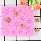 1 Pcs 3D Christmas Decoration Snowflake Silicone Mold Lace Chocolate Party Fondant Mold