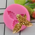 1 Pcs Holly Berry Leaves Silicone Mold Christmas Cake Decorating Tools Fondant Moulds