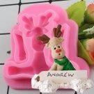 1 Pcs Christmas Elk Shape Silicone Mold Fondant Molds Cake Decorating Tools Moulds