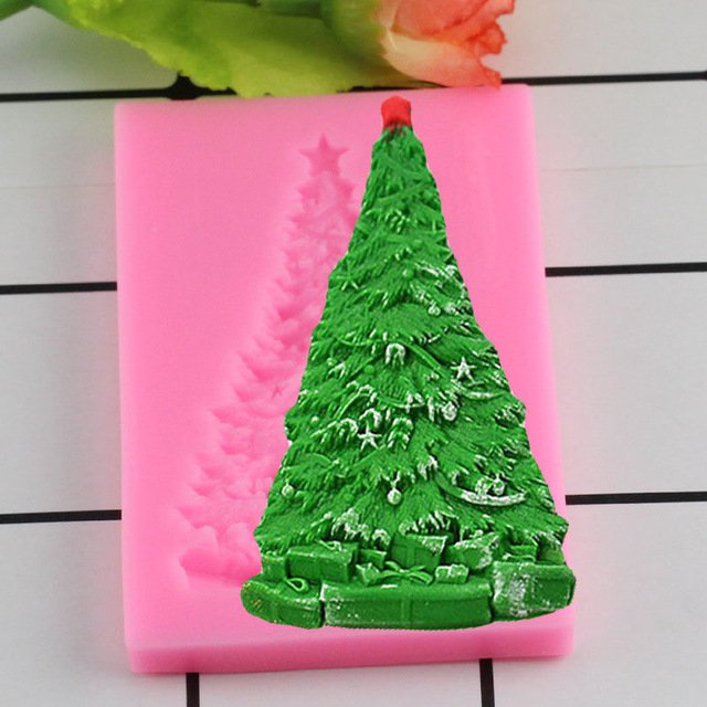 1 Pcs 3D Christmas Tree Silicone Mould Fondant Moulds Cake Decorating Chocolate Molds