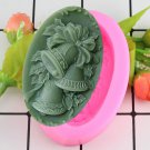 1 Pcs 3D Christmas Small Bell Shape Silicone Molds Handmade Soap Mould Fondant Cake Mold