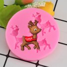 1 Pcs Deer Silicone Mold Christmas Cupcake Fondant Molds Cake Decorating Tools Mold