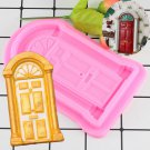 1 Pcs Door Shape Cake Fondant Mold Candy Chocolate Silicone Molds Biscuits Embossed Mould