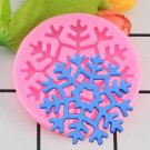 1 Pcs Christmas Snowflake Lace Silicone Mould Cookie Fondant Mold 3D Craft Cake Mould