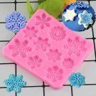 1 Pcs Christmas Snowflake Lace Silicone Mould Fondant Mold Sugarcraft Cake Mould
