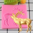 1 Pcs Deer Silicone Mold Fondant Molds Christmas Cake Decorating Candy Chocolate Molds