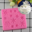 1 Pcs 3D Christmas Decorations Snowflake Lace Silicone Mold Chocolate Molds