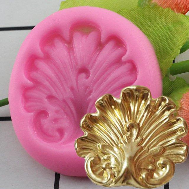 1 Pcs Sugar Craft Shell Shape Silicone Mold Fondant Cake Decorating Tools Moulds