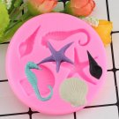 1 Pcs Shell Hippocampus Starfish Silicone Moulds Chocolate Fondant Cake Moulds