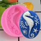 1 Pcs 3D Seahorse Silicone Mold DIY Coral Fondant Cake Decorating Tools Soap Candy Moulds