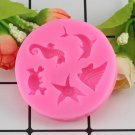 1 Pcs Shell Sea Animals Cake Silicone Baking Molds Cupcake Fondant Cake Decorating Moulds