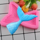 1 Pcs Large Size Mermaid Tail Silicone Mold Cupcake Topper Fondant Cake Decorating Moulds
