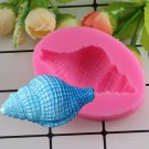 1 Pcs 3D Sea Shell Silicone Mold Baby Party Fondant Cake Decorating Chocolate Candy Moulds