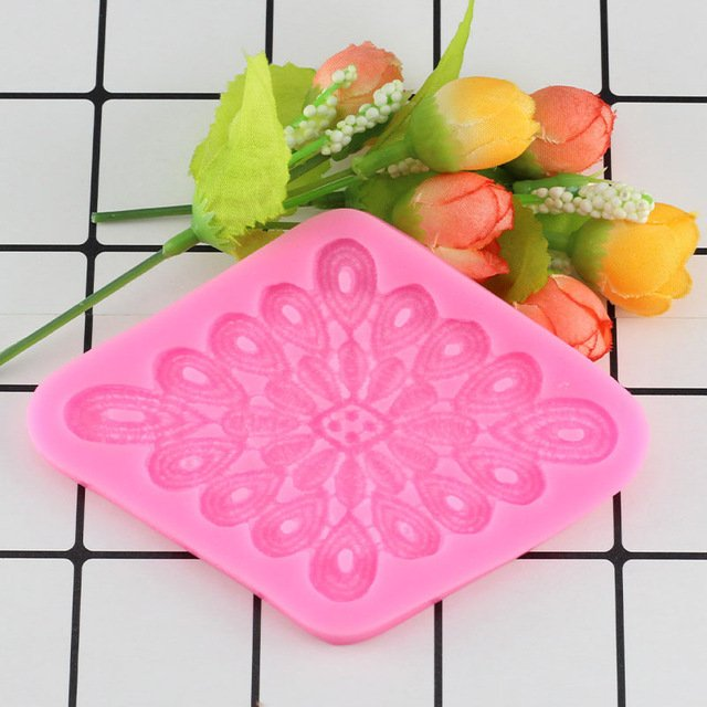 1 Pcs Sugarcraft Flower Lace Silicone Mold Fondant Mold Cake Decorating Chocolate Moulds