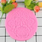 1 Pcs Flower Pattern Silicone Mat Fondant Cake Lace Embossed Cake Mold Sugar Lace Mat Cake Moulds