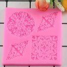 1 Pcs Lace Silicone Mold Mould Sugar Craft Fondant Mat Cake Decorating Baking Moulds
